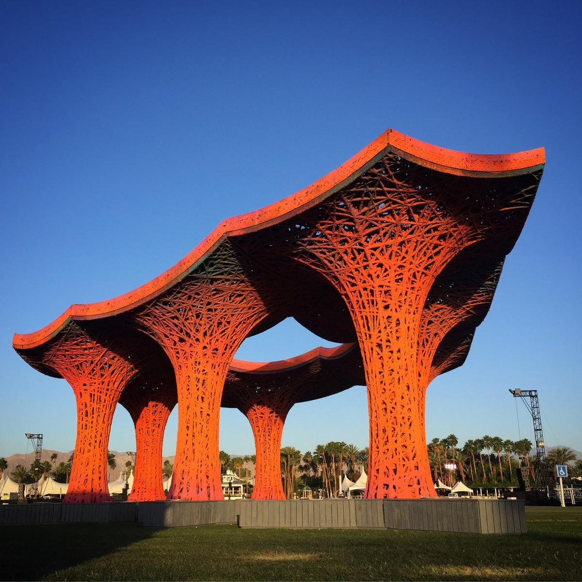 Coachella Music Festival in 2015 flaunted a pavilion built using over a tonne of paper pulp.