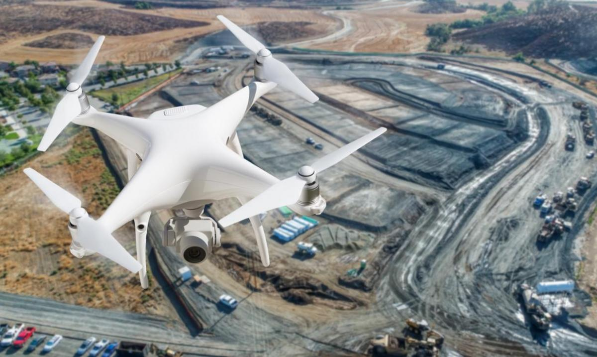 drones for surveylance in construction